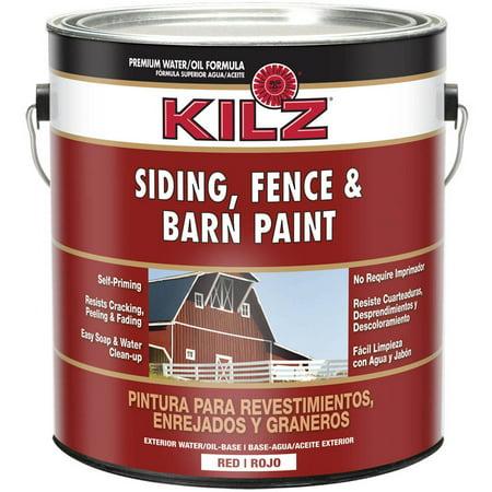 Kilz Barn Paint, 1 Gallon, (Red Mirror Tint)