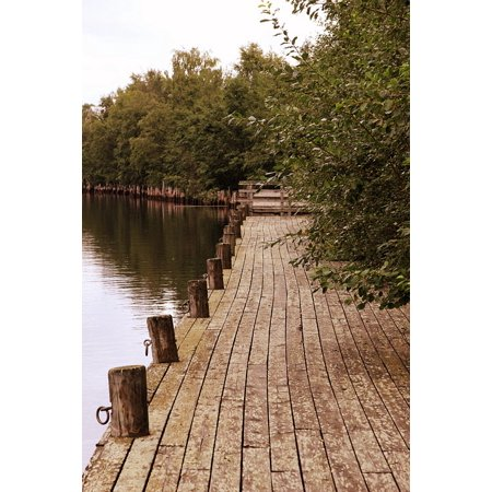 LAMINATED POSTER Pier Water Finland Boardwalk Harbor Oulu Bay Poster Print 11 x 17 ()