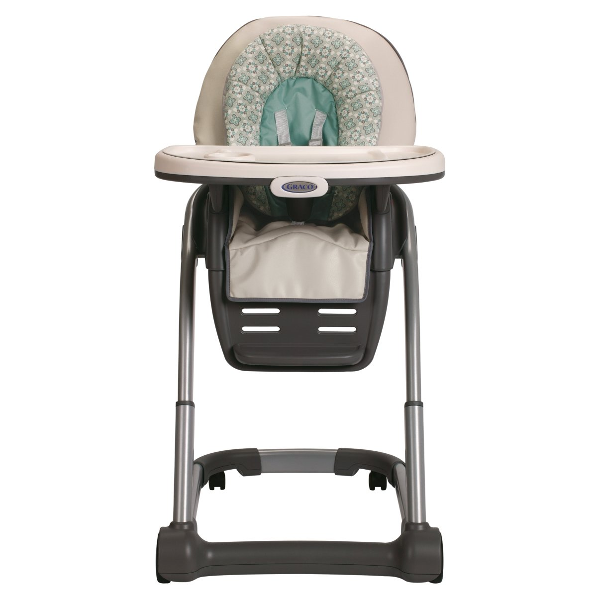 Graco Blossom 4-in-1 Seating System, Winslet - Highchair To Infant Feeding Booster - Toddler Booster To Youth Chair - One Hand Removable Tray - Leatherette Seat Pad (1812898)