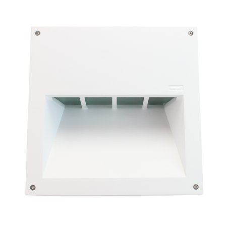 We-eF Lighting Recessed Wall Mount Luminair Light Fixture, CFL, Die-Cast, Path lighting, Landscape Lighting, White Finish