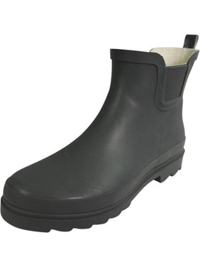 Norty - Ladies Ankle Rain Boots For Women - Waterproof Rainboot For Winter Spring and Garden - Warm and Comfortable Sturdy Sole Choose Glossy or Matte Finish Womens Rain Boots - Runs a 1/2 size Large