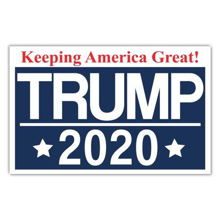 Political Campaign Yard Sign w/Stake - Donald Trump 2020 President - 18