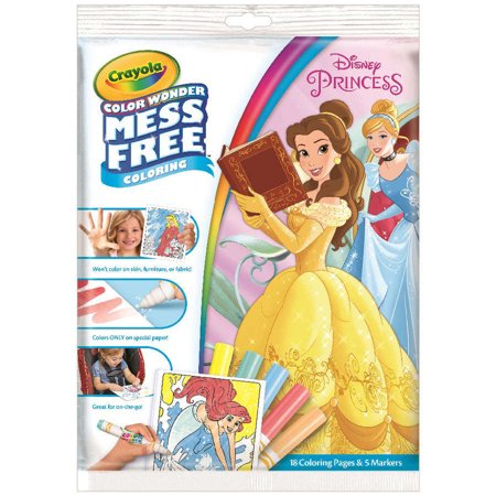 Crayola Color Wonder Mess Free Coloring Pages Disney Princess