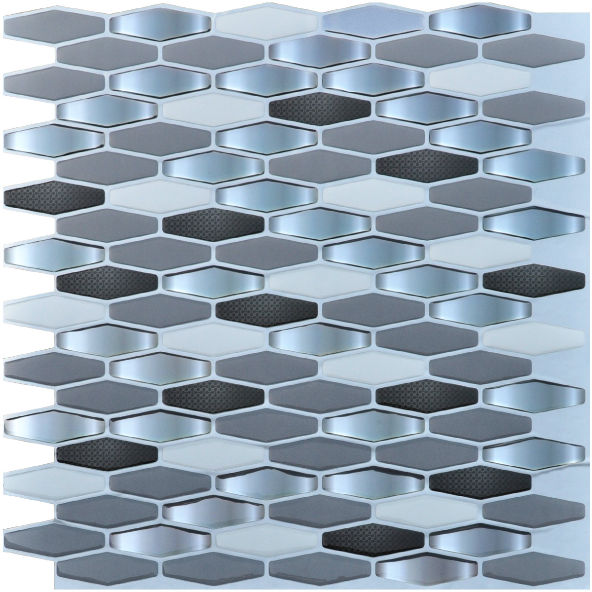 "12""x12"" Anti-mold Peel and Stick Backsplash Tile for Kitchen(6 Sheets)"