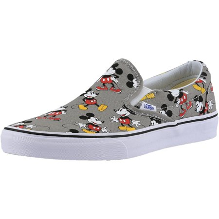 24dbdde2665a92 Vans - Vans Men s Classic Slip-On Disney Mickey Mouse   Frost Grey  Ankle-High Canvas Skateboarding Shoe - 11M - Walmart.com