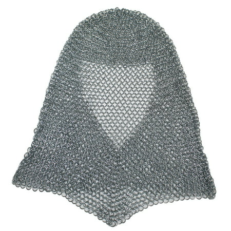 Chainmail Links (CHAINMAIL ARMOR HOOD - Medieval Costume - STEEL COIF )