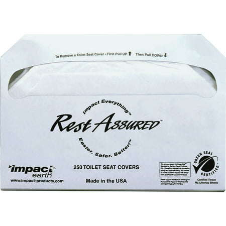 Impact Products, IMP25130873, Toilet Seat Covers, 1000 / Carton, White (Toilet Seat Cover Holder)