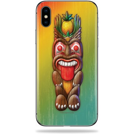 MightySkins Skin For Apple iPhone XS Max - Tiki Man | Protective, Durable, and Unique Vinyl Decal wrap cover | Easy To Apply, Remove, and Change Styles | Made in - Tiki Man