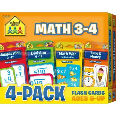 Flash Cards - Math 3 & 4