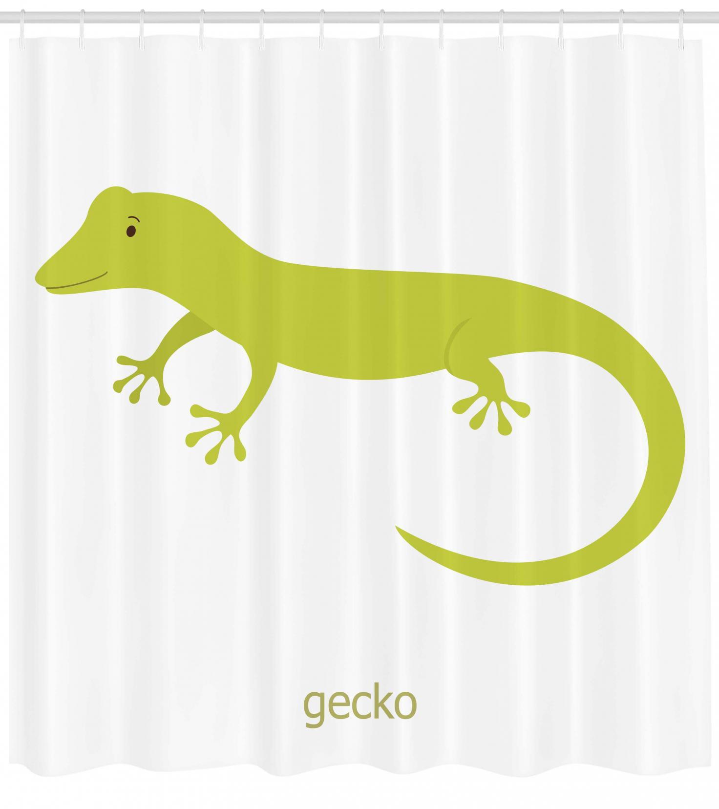 Kids Safari Bathroom Set: Reptile Shower Curtain, Cute Australian Lizard