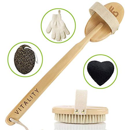 Best Dry Body Brush & Wet Exfoliating Set
