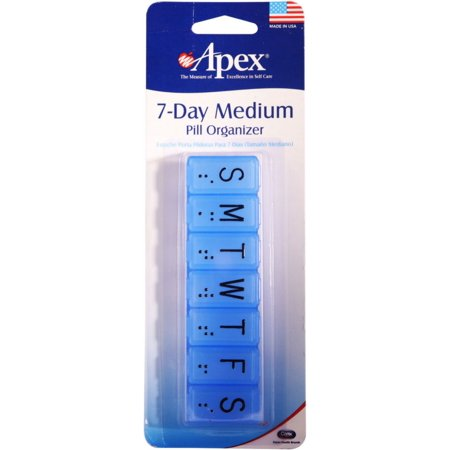 - Apex 7-Day Pill Organizer Medium (Color may vary) 1 ea