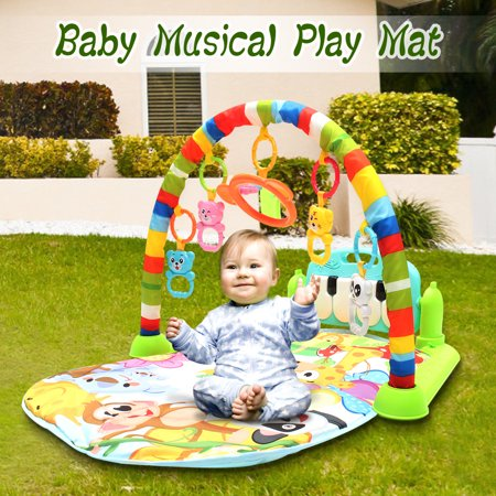 Baby Gym Fitness Playmat Lay Play Music Lights Fun Piano Activity Toy Christmas Gift 3 in 1 Newborn Baby Multifunction Play Mat Music Piano Fitness Gym Activity Mats](Mickey Music Mat)