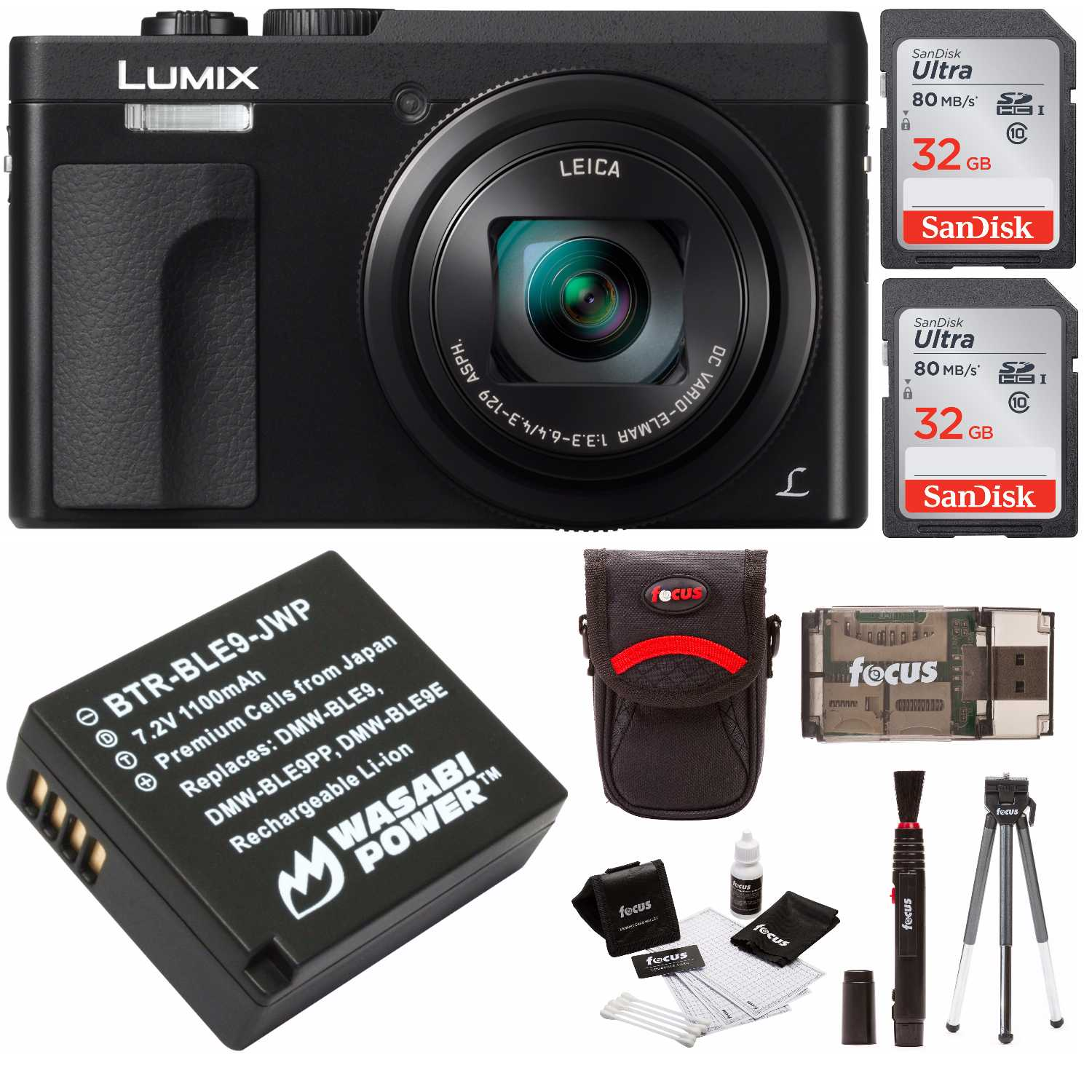"Panasonic DC-ZS70K Lumix 20.3 Megapixel, 4K Touch 3"" LCD, 180 Flip Display 64GB"