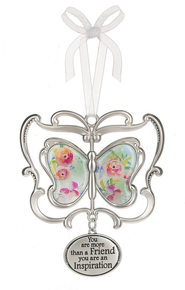 Reach for the stars Inspirational Zinc Butterfly Ornament