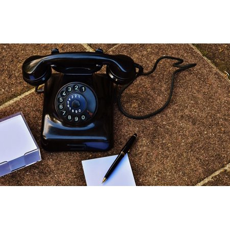 Canvas Print Year Built 1955 Old Phone Dial Bakelite Post Stretched Canvas 10 x (Best Phone For 14 Year Old)