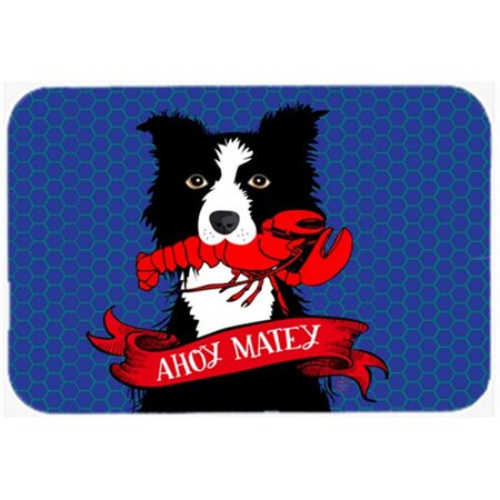 Carolines Treasures VHA3011CMT Ahoy Matey Nautical Border Collie Kitchen or Bath Mat, 20 x 30 in. - image 1 of 1