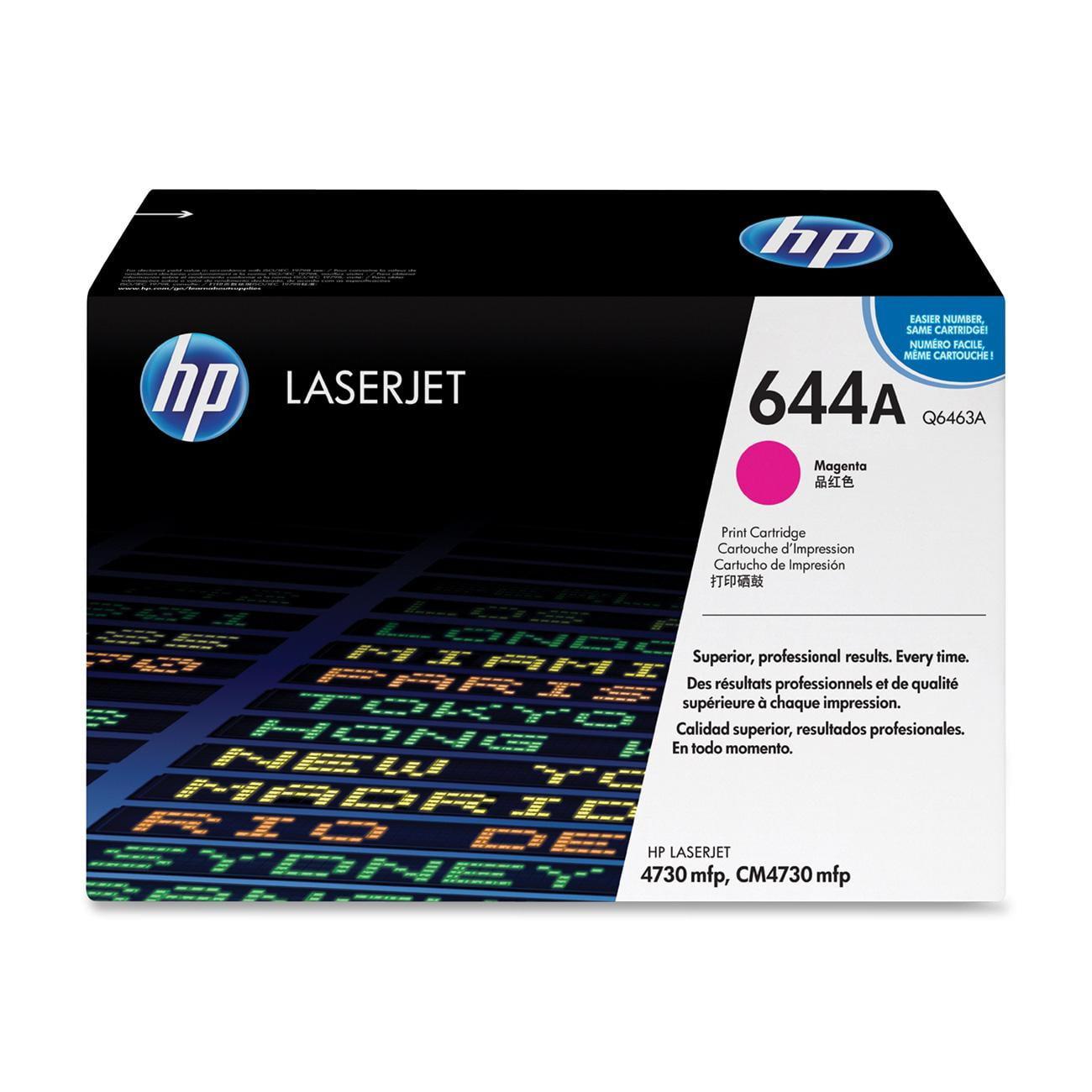 HP 644A (Q6463AG) Magenta Original LaserJet Toner Cartridge for US Government - Magenta - Laser - 12000 Page - 1 Each