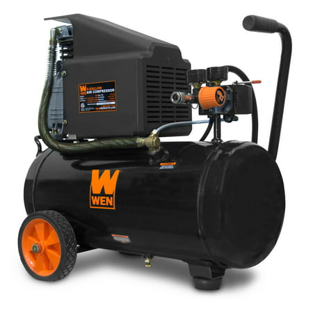 Wen 6 Gallon Oil Lubricated Portable Horizontal Air