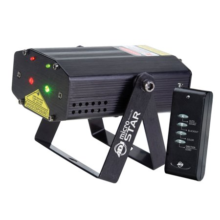- American DJ Micro Star Green and Red Laser Lighting Effect with Wireless Remote