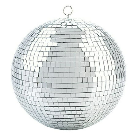 Mirror Disco Ball - Cool and Fun Silver Hanging Party Disco Ball – 8-Inch Party decorations, Party Design, Dance and Music festivals- By Kidsco - Fall Festival Decorations