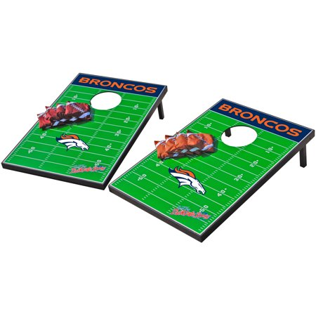 Denver Broncos Glass - Wild Sports NFL Denver Broncos 2x3 Field Tailgate Toss