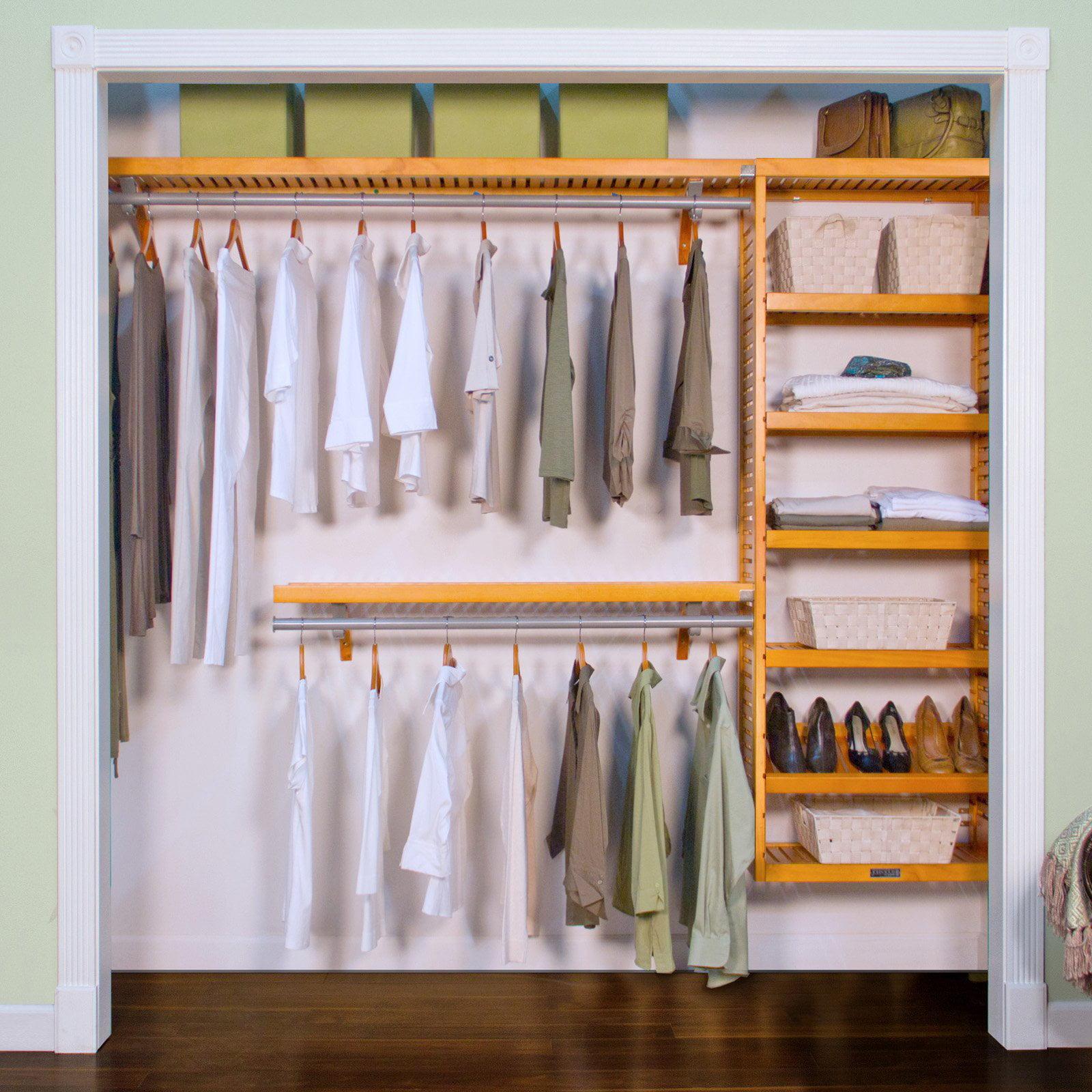 nickel closet organizer kit