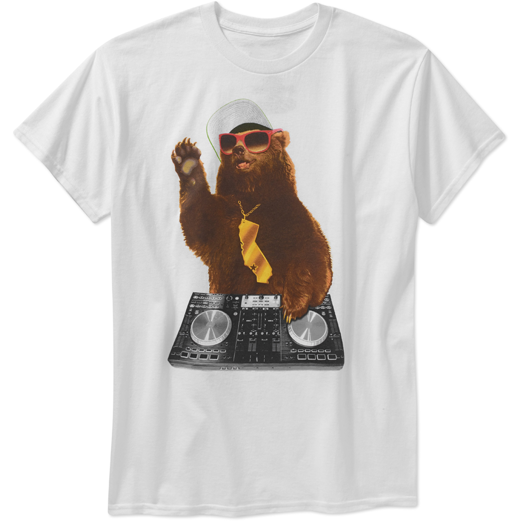 Cali Bear DJ Big Men's Graphic Tee