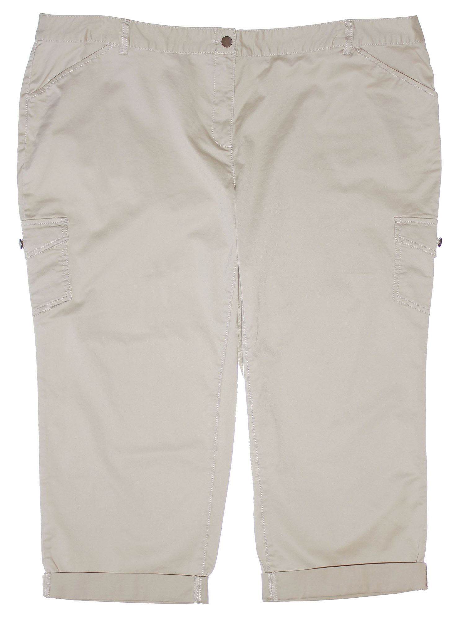 Charter Club Women's Plus Modern Fit Cropped Ankle Pant 24w Sand