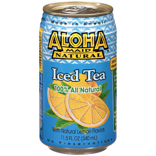 Aloha Maid Natural Iced Tea With Natural Lemon Flavors, 11.5 oz