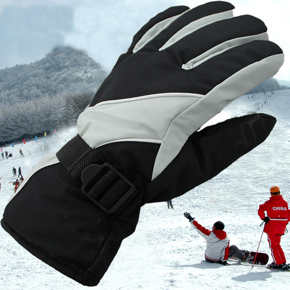 Mosunx Men's Winter Warm -30�Waterproof Windproof Snow Snowboard Ski Sports Gloves by