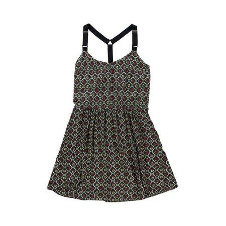 Rachel Roy Womens Sleeveless Floral Strapless Dress greenred XL - image 1 de 1