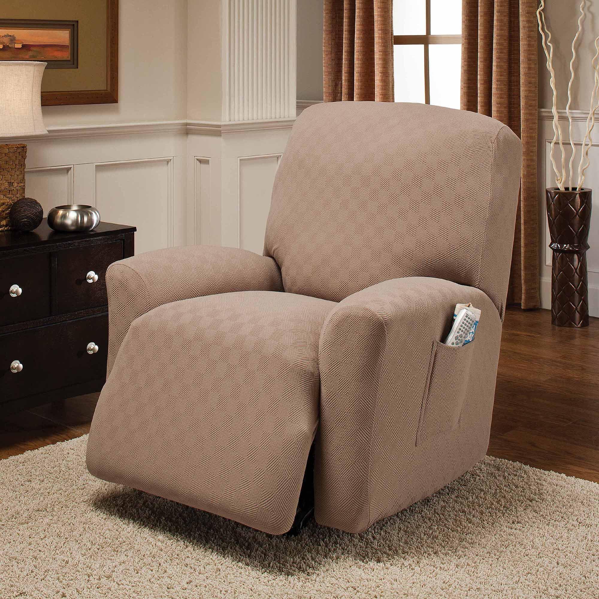 jersey stretch large recliner slipcover. Black Bedroom Furniture Sets. Home Design Ideas