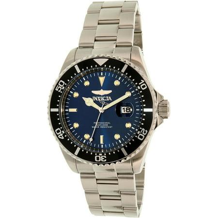 22054 Men's Pro Diver Blue Dial Stainless Steel Bracelet Dive Watch