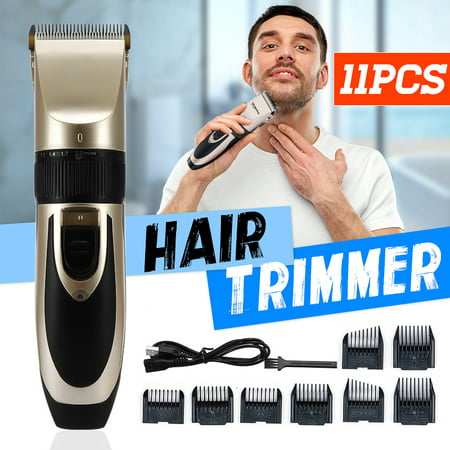 Cordless Rechargeable Hair Trimmer Clipper 5 Fine-tuning Speed Beard Shaver with 8 Combs Set Hair Styling Grooming Ceramic Blade for Men Baby Kids Home Haircut Father's Day