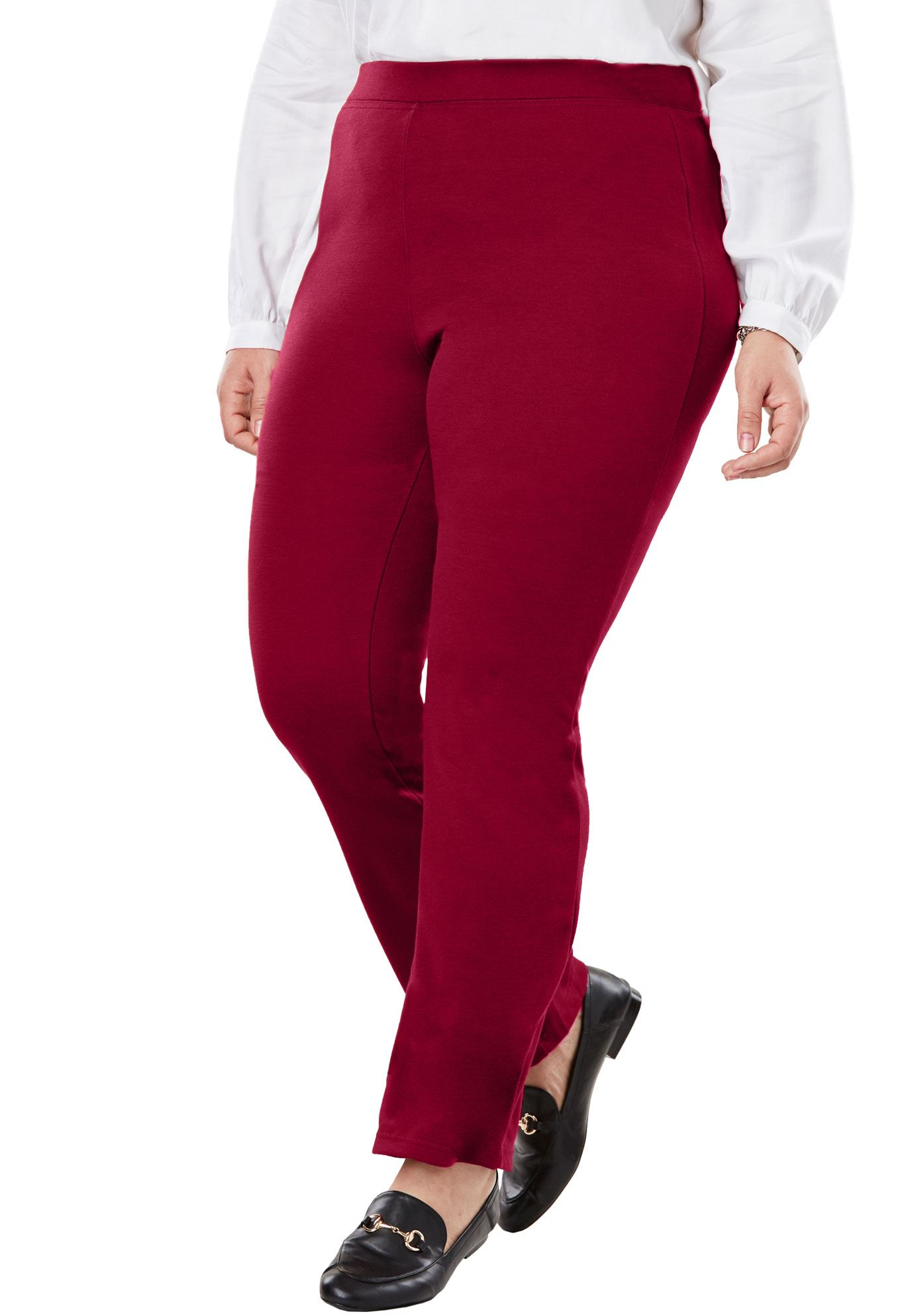Woman Within Plus Size Bootcut Ponte Stretch Knit Pant