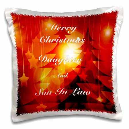 3dRose Print of Christmas For Daughter And Son In Law, Pillow Case, 16 by (Christmas Poem For Daughter And Son In Law)