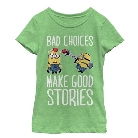 Despicable Me Girls' Minion Bad Choices T-Shirt - Minions Character Names