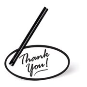 Make N Mold 5197 Black Thank You Tags, Pack of 12