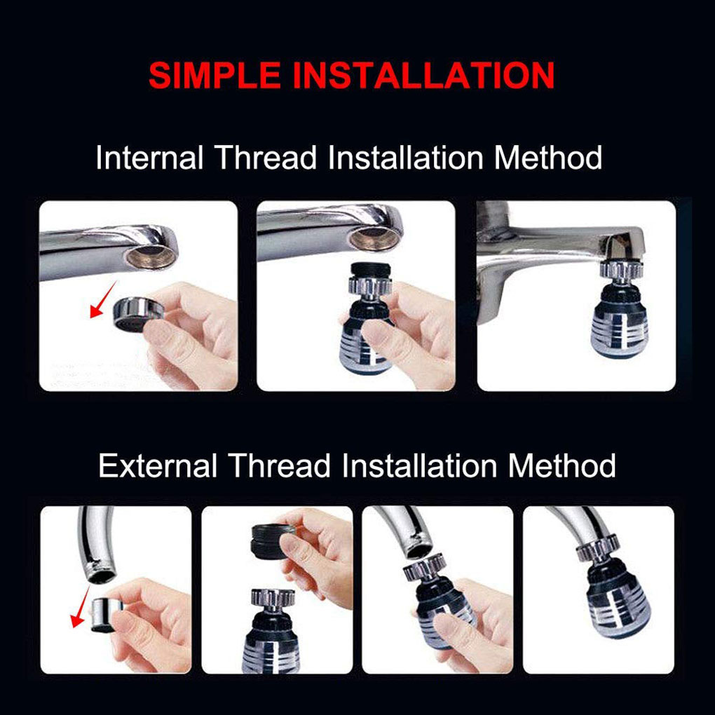 Faucet Head Nozzle Stretchable to any angle Faucet Replacement Head Part For Kitchen//Bathroom Pull Out Faucet Spray Head 3 Function Kitchen Sink Faucet Nozzle
