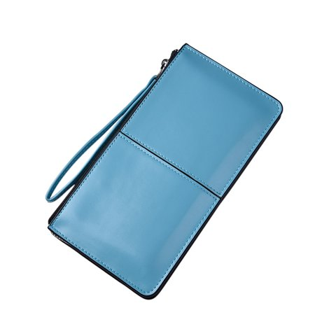 Women Candy Color PU Leather Clutch Wallet Ladies Long Purse Handbag Card Holder