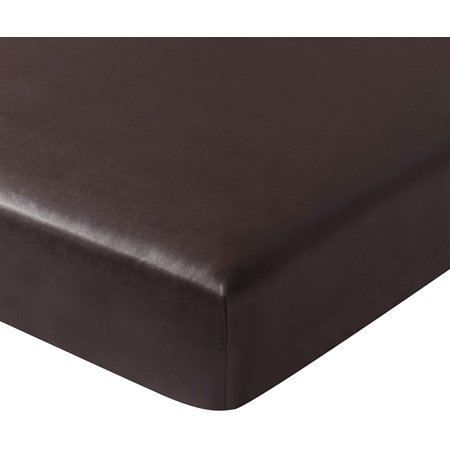 Subrtex Spandex Elastic PU Leather Couch Stretch Water-Proof Patio Durable Chair Slipcovers Furniture Protector Slip Cover for Settee Sofa Seat for Replacement (Sofa Cushion, Chocolate Leather) ()