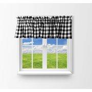 cotton gingham checkered window valance 58 wide black