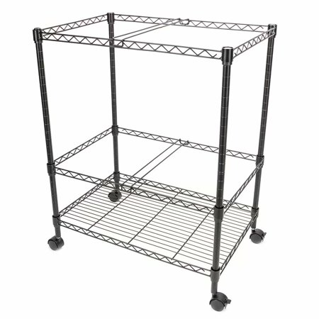 Legal Mobile File Cart (Clearance!Two Tier Metal Rolling Mobile File Cart for Letter/Legal Size Office Supplies )