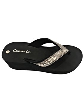 2d8d43bcea89 Product Image W-327 Women Platform Wedge Rhinestone Bling Slides Flip Flop  Sandals
