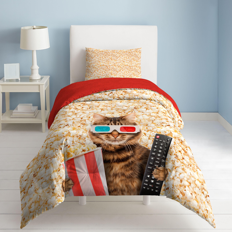 DREAM FACTORY MOVIE CAT COMFORTER AND SHAM