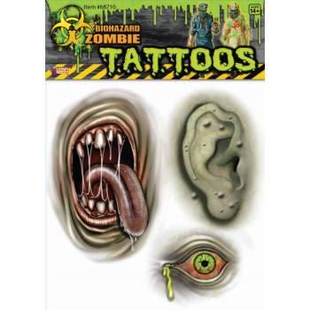BIOHAZ.MUTANT BODY PART TATOO - Teenage Mutant Ninja Turtles Tattoos