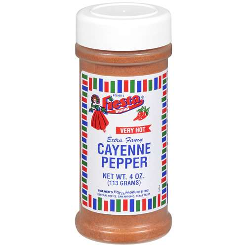 Bolner's Fiesta Brand Very Hot Cayenne Pepper Seasoning, 4 oz