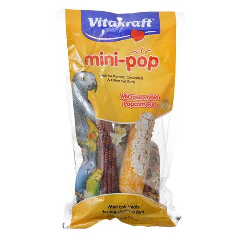 VitaKraft Vitakraft Mini-Pop Corn Treat for Pet Birds 6 Ounce