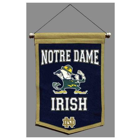 Notre Dame Fighting Irish NCAA Winning Streak Traditions Banner (12